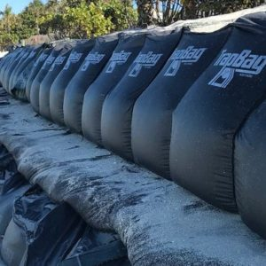 TrapBags set up for coastal erosion control