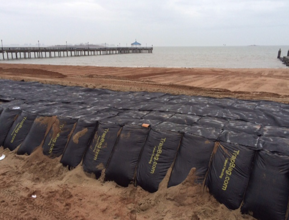 TrapBags used for dune core stabilization at Rockaway Beach in Queens, New York