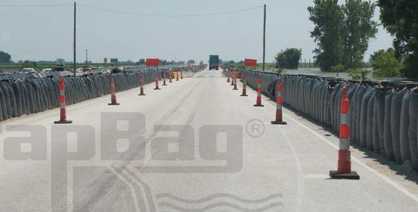 TrapBags used for Flood Protection on I-29 in Iowa