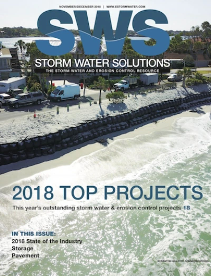 TrapBags used in the 2018 Top Project by Stormwater Solutions magazine