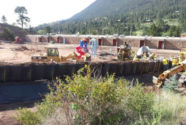TrapBags used to protect and divert mudslides and debris flows in Colorado Springs, Colorado