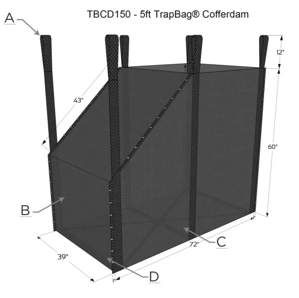 TrapBag 5 foot cofferdam