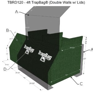 TrapBag 4 foot double walls with lids