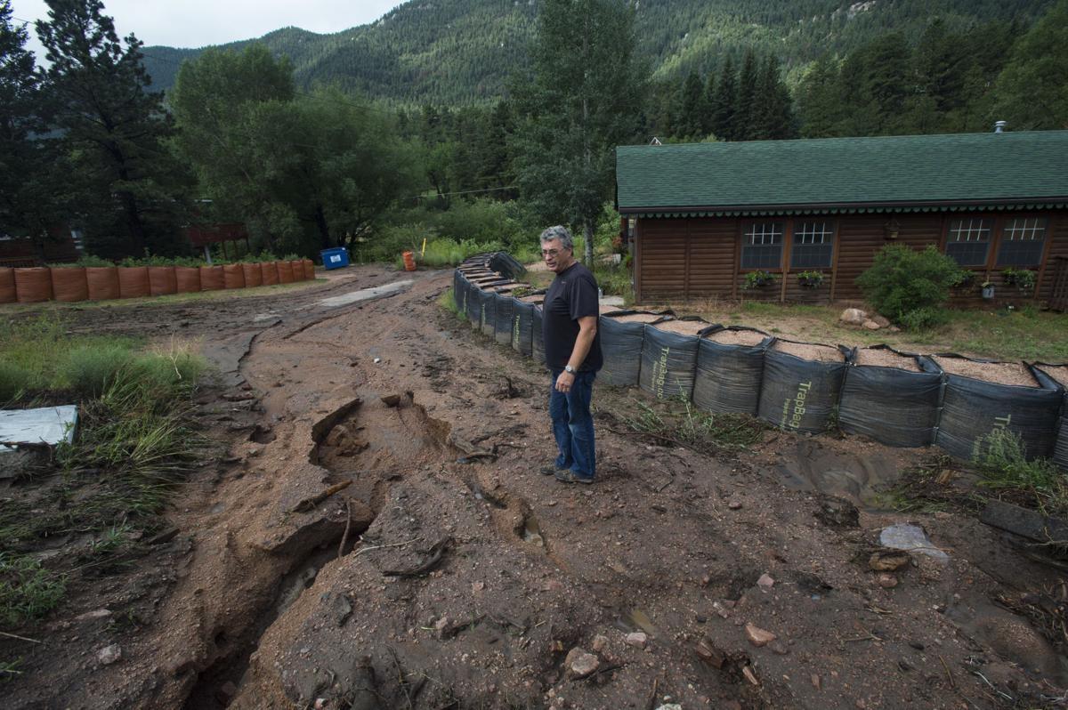 Mudflow and debris flow in Manitou Springs, Colorado